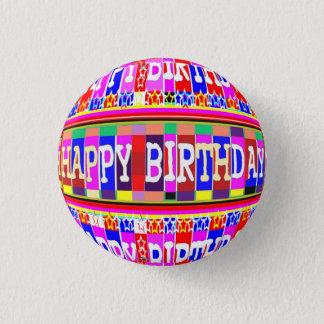 VIELE Weisen, alles Gute zum Geburtstag zu sagen Runder Button 3,2 Cm