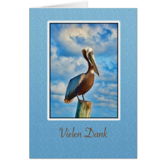 Vielen feucht, danke, Deutscher, Pelikan Grußkarte