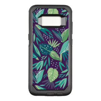 Vielzahl des grünen tropischen Blatt-Musters OtterBox Commuter Samsung Galaxy S8 Hülle