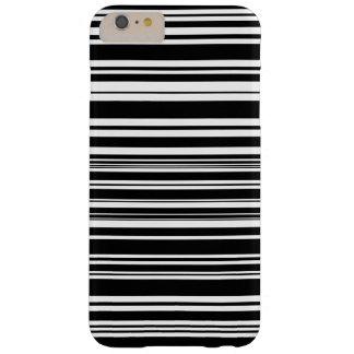 Vielzahl ungleiche Schwarzweiss-Streifen Barely There iPhone 6 Plus Hülle
