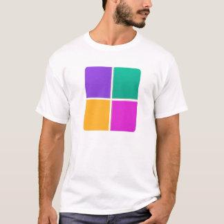 VIER BUNTE QUADRATE: Elegante GESCHENKE Billig T-Shirt