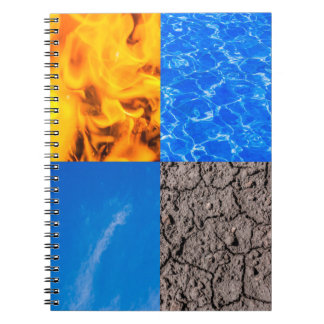 Vier Elemente Notizbücher