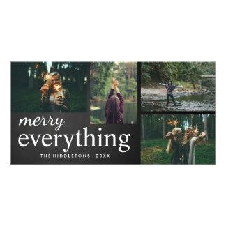 Vier Foto | fröhlich alles Tafel-Skript Bildkarten