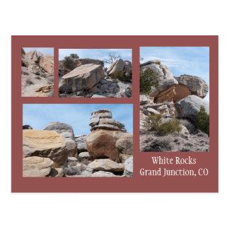 Vier Fotos der weißen Felsen, GJ, Co Postkarte