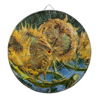Vier geschnittene Sonnenblumen, Vincent van Gogh Dartscheibe