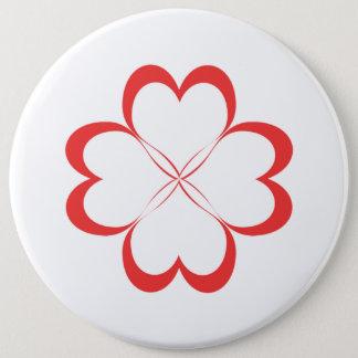Vier Herzen! Runder Button 15,3 Cm