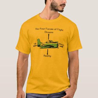 Vier Kräfte Flug-Luftfahrt-Shirt T-Shirt