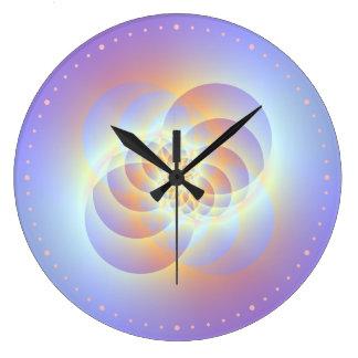 Vier Kreise winden sich Wanduhr
