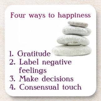 Vier Möglichkeiten zum Glück Untersetzer