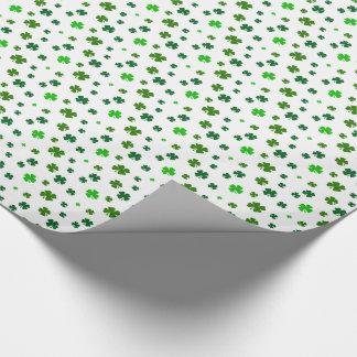 Vierblättriges Kleeblatt Geschenkpapier