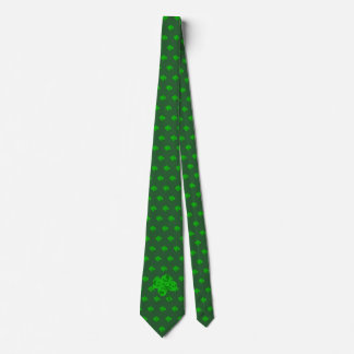 Vierblättriges Kleeblatt St Patrick die Krawatte