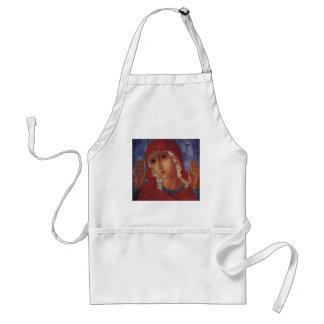 Vierge de Kuzma Vodkin- des coeurs de mal de tendr Tablier