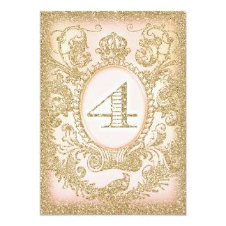 Vierte Geburtstags-einst Prinzessin 12,7 X 17,8 Cm Einladungskarte