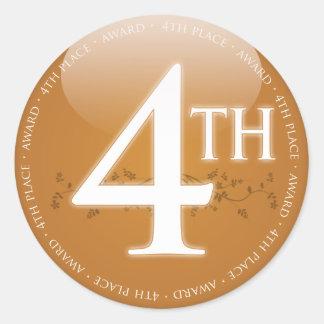 Vierter Platz-(4.) Preis Runder Aufkleber