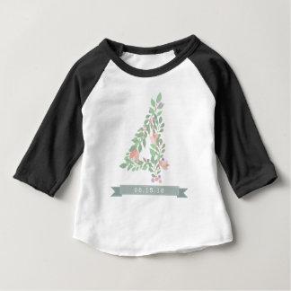 Viertes Blumen-Power-Geburtstags-Shirt Baby T-shirt