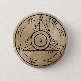 Viertes Pentagramm von Saturn-Knopf Runder Button 5,7 Cm