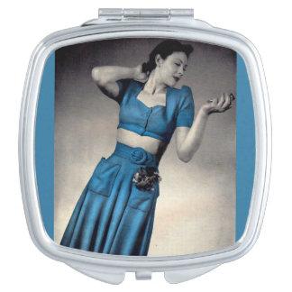 Vierzigerjahre Mode-Foto Midriffart Taschenspiegel