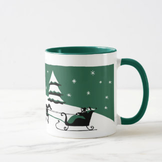 Vierzigerjahre Weihnachtsschnee-Szenen-Tasse Tasse