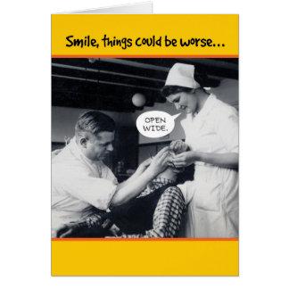 Vierzigerjahre Zahnarzt-Sachen konnten Karte