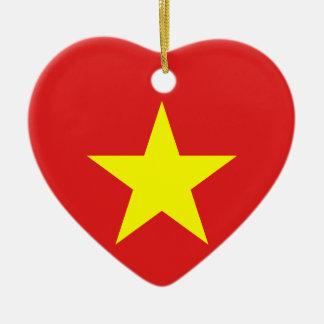 Vietnam-Flaggen-Herz-Verzierung Keramik Ornament