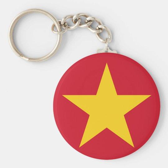 Vietnam-Flaggen-Shirt Standard Runder Schlüsselanhänger