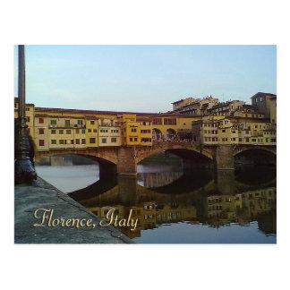 Vieux cadeau de Florence Italie de pont de Ponte Carte Postale