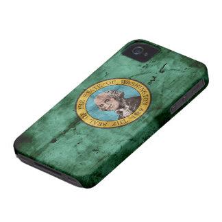 Vieux drapeau de l'état de Washington Coque iPhone 4 Case-Mate