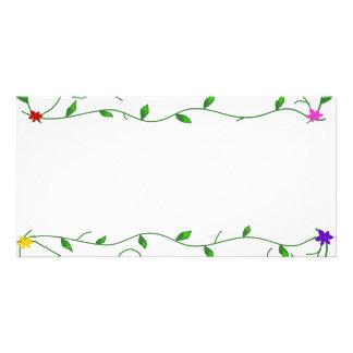 Vignes avec l'enveloppe de fleurs photocarte customisée