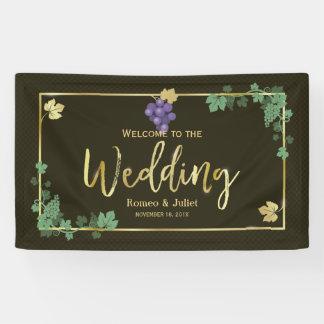 Vignes chics avec la bannière de mariage de cadre