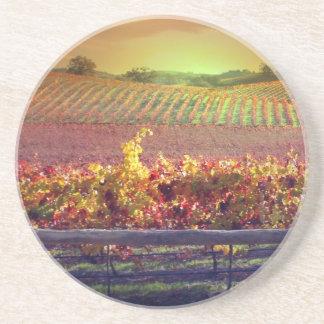 Vignoble de vin dessous de verres