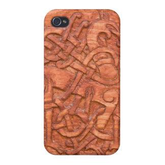 Viking-Holzschnitzen iPhone 4/4S Hüllen