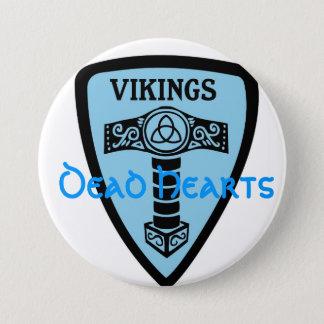 Viking-Knopf - tote Herz-Romane Runder Button 7,6 Cm