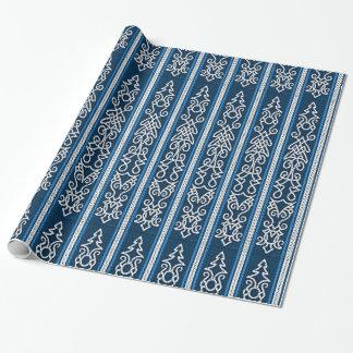 Viking-Muster-Blau Einpackpapier