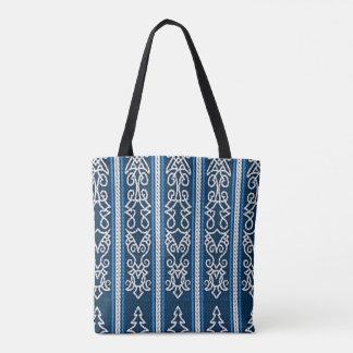 Viking-Muster-Blau Tasche