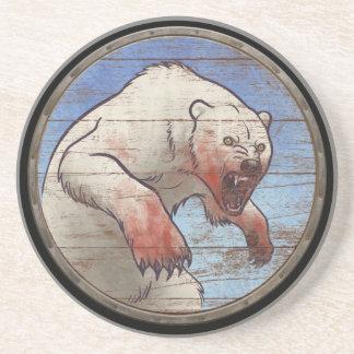 Viking-Schild - Eisbär Sandstein Untersetzer
