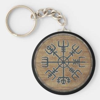 Viking-Schild Keychain - Vegvisir Standard Runder Schlüsselanhänger