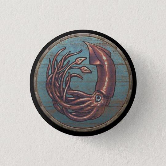 Viking-Schild-Knopf - Kraken Runder Button 2,5 Cm