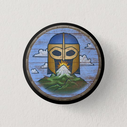 Viking-Schild-Knopf - Walhall Runder Button 3,2 Cm