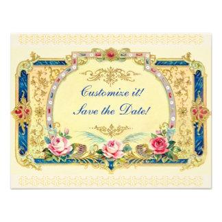 Viktorianisch - Hochzeit Verlobung Save the Date Individuelle Ankündigungen