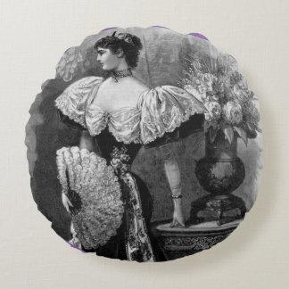 Viktorianische Anmut Rundes Kissen