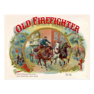 Viktorianische Ära-alte Feuerwehrmann-Postkarte Postkarte