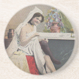 Viktorianische badende Frau Untersetzer