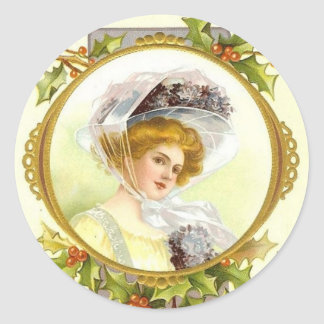 Viktorianische Dame Sticker