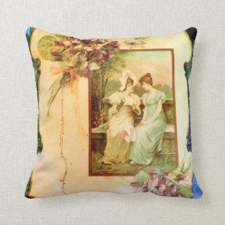 Viktorianische Damen im Garten-Foto-Entwurfs-Kisse Zierkissen