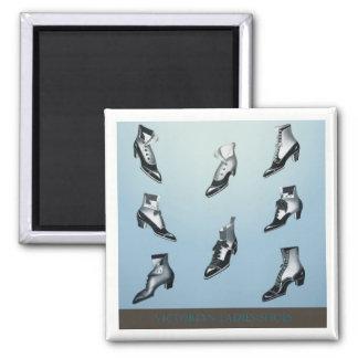 Viktorianische Damen-Schuhe! Quadratischer Magnet