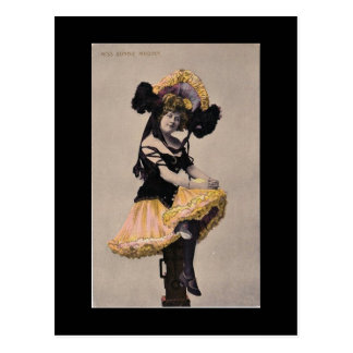 Viktorianische Dose kann Mädchenpostkarte Postkarte