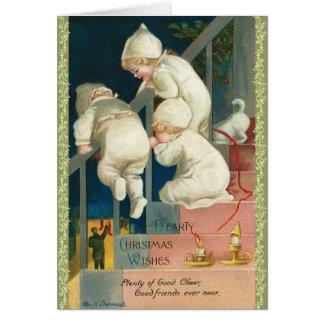 Viktorianische Elf-Weihnachtskarte Karte