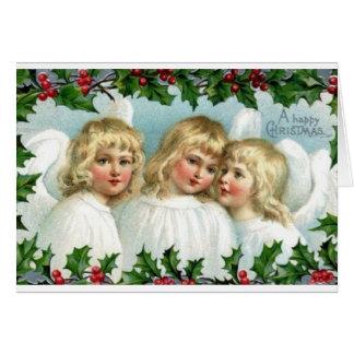 Viktorianische Engels-Weihnachtsgruß-Karte Grußkarte