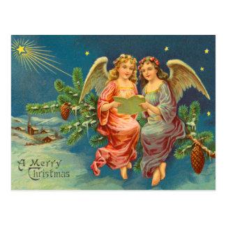 Viktorianische Engels-Weihnachtspostkarte Postkarte