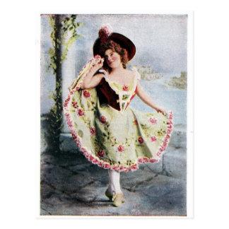 Viktorianische feenhafte Tänzerpostkarte Postkarte